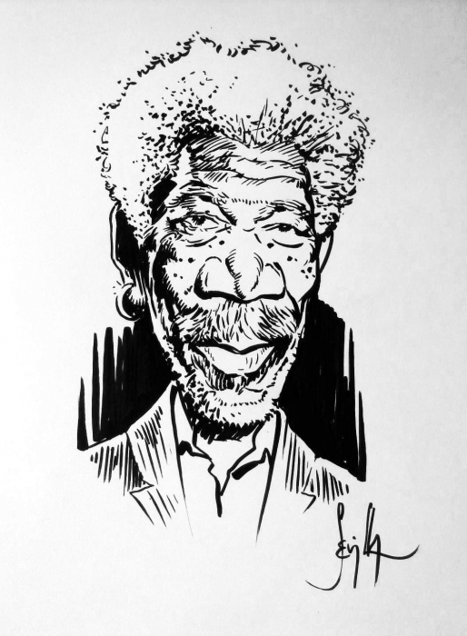 Morgan Freeman by Tonio